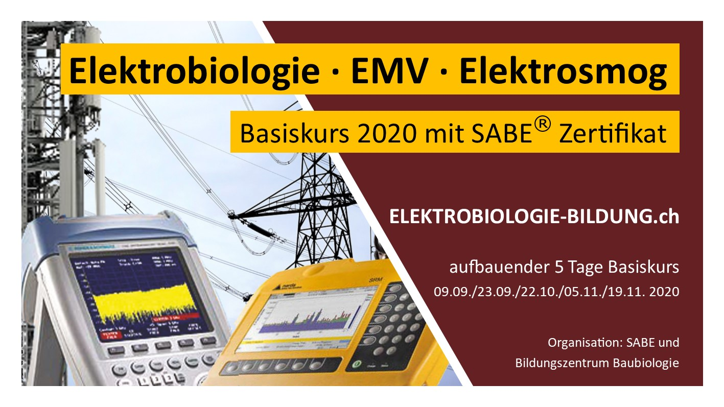 ELEKTROBIOLOGIE-BILDUNG | Grundlagen-Basis-Kur: Elektrotechnik, Elektrosmog, Felder-Wellen-Strahlung